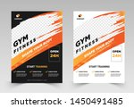 gym   fitness flyer template... | Shutterstock .eps vector #1450491485