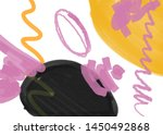 abstract texture with shapes ... | Shutterstock .eps vector #1450492868