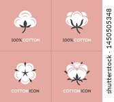 four white cotton icon  symbol  ...   Shutterstock .eps vector #1450505348