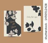simple stylized  jasmin flower... | Shutterstock .eps vector #1450512428