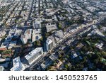 aerial view of sunset blvd area ... | Shutterstock . vector #1450523765