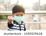 a 5 years old boy wearing a... | Shutterstock . vector #1450529618