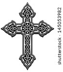 ornate cross vector | Shutterstock .eps vector #145053982
