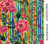 watercolor seamless pattern...   Shutterstock . vector #1450551905