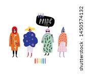 gay pride collage people...   Shutterstock .eps vector #1450574132