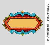 festive hand drawn frame.... | Shutterstock . vector #1450590692