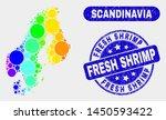 spectral dot scandinavia map... | Shutterstock .eps vector #1450593422