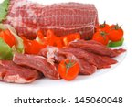 Meat Chop With Slices Over...