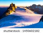 Aiguille Du Midi Mountain Peak...