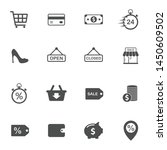 black friday vector icons set...