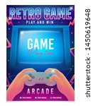 retro gaming  game of 80s 90s.... | Shutterstock .eps vector #1450619648