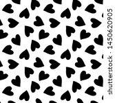 black hearts silhouettes cute... | Shutterstock . vector #1450620905