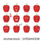 set of isolated cute cartoon... | Shutterstock .eps vector #1450644338