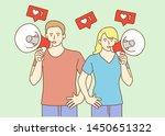 influencer marketing concept ... | Shutterstock .eps vector #1450651322