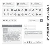 website elements  form  icons...