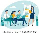 teacher speaking to students... | Shutterstock .eps vector #1450657115