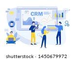 customer relationship... | Shutterstock .eps vector #1450679972