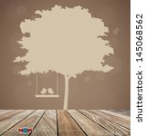vector background with tree and ...   Shutterstock .eps vector #145068562