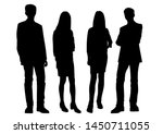vector silhouettes of  men and... | Shutterstock .eps vector #1450711055