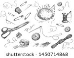 vector illustration of atelier... | Shutterstock .eps vector #1450714868