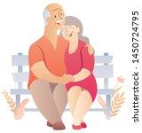 cartoon illustration of elderly ...   Shutterstock .eps vector #1450724795