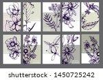 herbal illustration on label... | Shutterstock .eps vector #1450725242