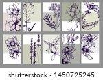herbal illustration on label... | Shutterstock .eps vector #1450725245