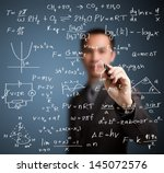 teacher writing high school... | Shutterstock . vector #145072576