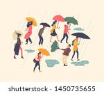 set of vector illustrations on... | Shutterstock .eps vector #1450735655