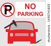 no parking sign with a car s...   Shutterstock .eps vector #1450741835