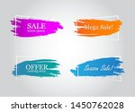 text banner flat design set... | Shutterstock .eps vector #1450762028