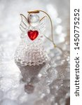 Small Glass Angel With A Red...
