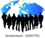 illustration of people and map | Shutterstock .eps vector #14507791