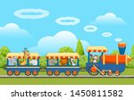 animals train. baby animal... | Shutterstock .eps vector #1450811582