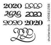 numbers 2020. happy new year... | Shutterstock .eps vector #1450811588