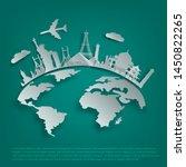vector  tourist attractions ... | Shutterstock .eps vector #1450822265