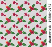 flower seamless pattern vector...   Shutterstock .eps vector #1450840172