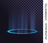 blue glowing ring  neon... | Shutterstock .eps vector #1450844732