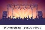 scene  crowd of fans  rock... | Shutterstock .eps vector #1450844918