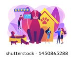 dog breeding  buying puppy at... | Shutterstock .eps vector #1450865288
