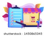 man doing purchases from... | Shutterstock .eps vector #1450865345