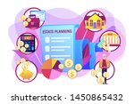 financial analysis and... | Shutterstock .eps vector #1450865432