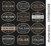 italian premium quality stamp.... | Shutterstock .eps vector #1450866368