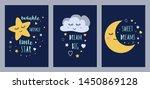 dream sleep cards set for baby... | Shutterstock .eps vector #1450869128
