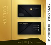 modern black golden business... | Shutterstock .eps vector #1450873262