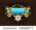 Antique  Blue Banner With...