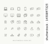 web multimedia icons set vector