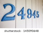 house address numbers attached... | Shutterstock . vector #145090648