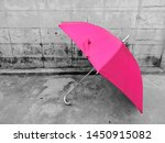 Beautiful Pink Umbrella On...