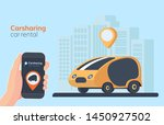 carsharing service illustration.... | Shutterstock . vector #1450927502